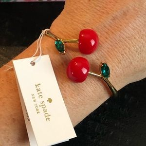 Kate Spade NWT Cherry Cherie Amour Gold Bracelet